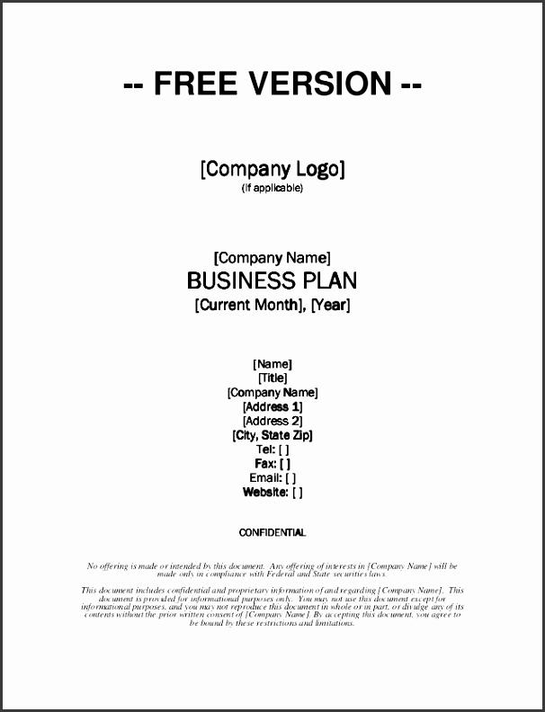 Growthink Business Plan Template Free Download FREE VERSION pany Logo pany Logo pany