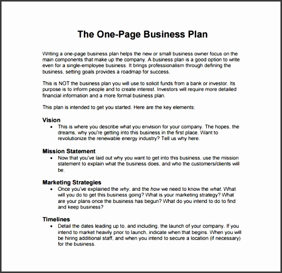The Best Business Plan Sample Pdf Ideas Sample