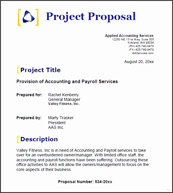 Project proposal template experience screnshoots accounting sample business 14 documents in word indd
