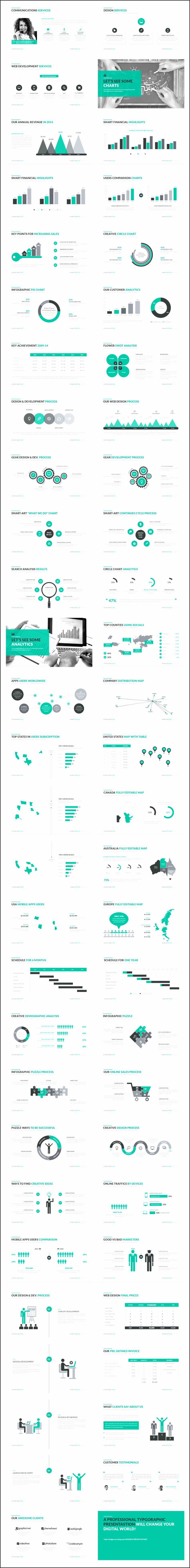 Business Proposal PowerPoint Template is a clean simple and unique Business Presentation It contains a lot of handmade diagrams graphs infographics and