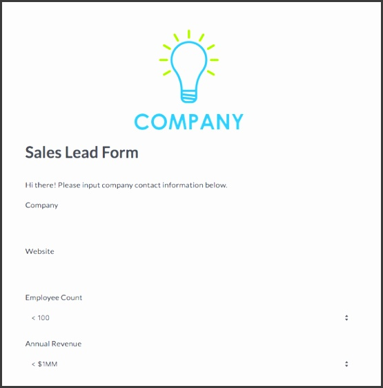 sales lead form template