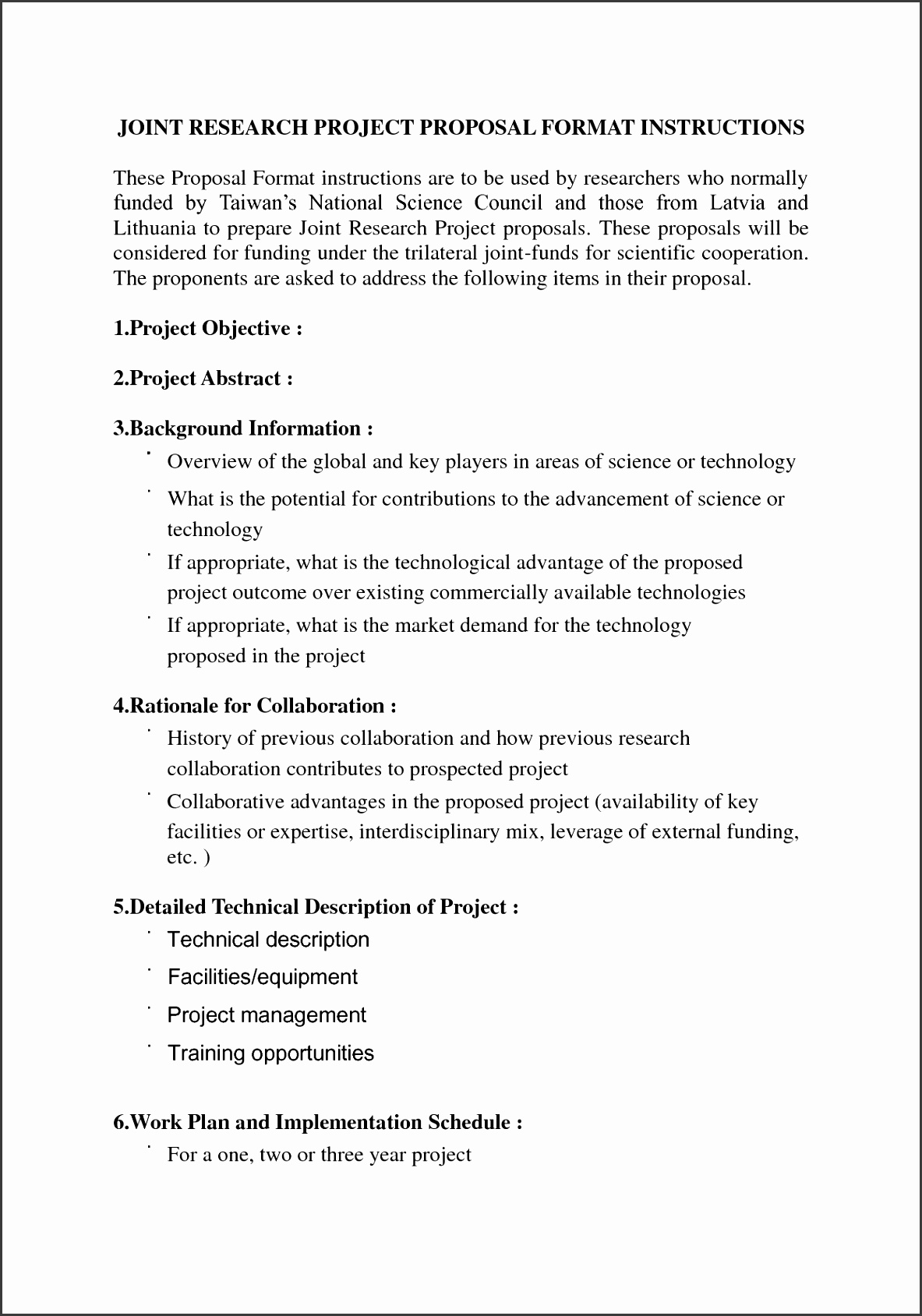 DOST TECHNI Call for Proposals for CY fice of the IRB Research Proposal Format Form research