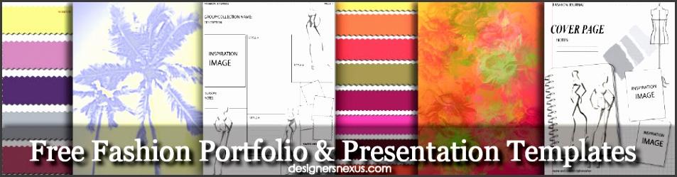 Free Templates for Fashion Portfolios & Fashion Design Presentations