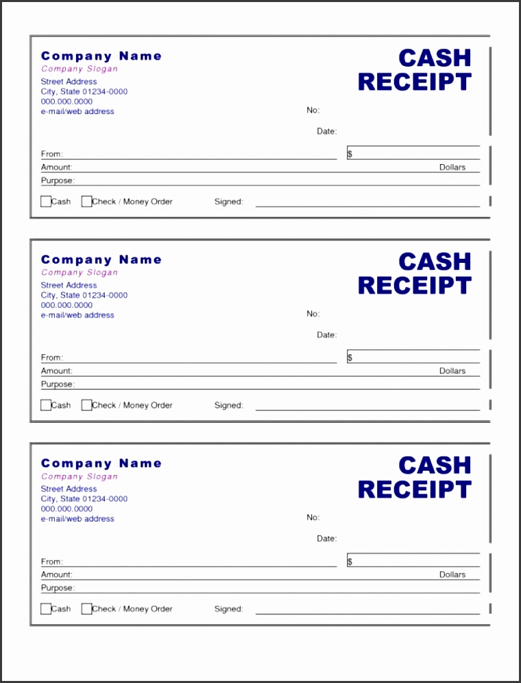 Cash Invoice Template Doc