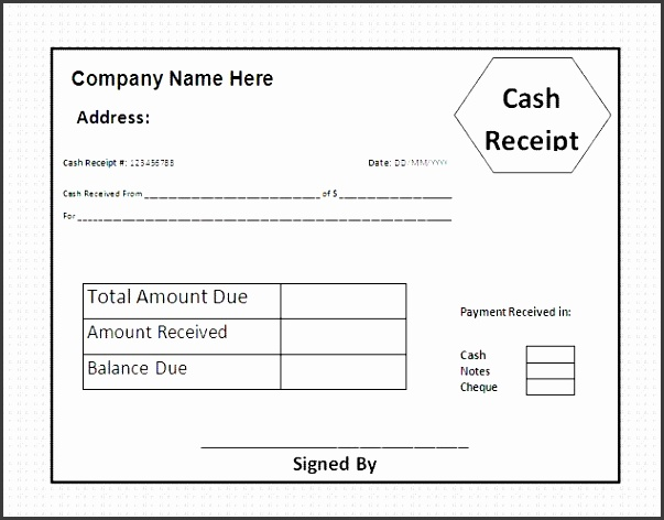 House Rental Invoice Template in Excel Format House Rental cash payment receipt sample