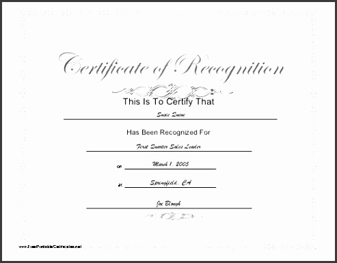 certificate award template free this printable certificate of recognition has a script title and subtle blue
