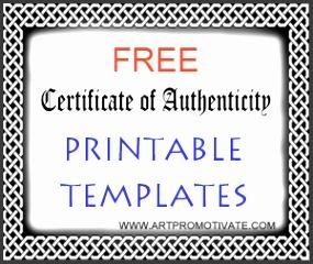 free coa printable templates A certificate