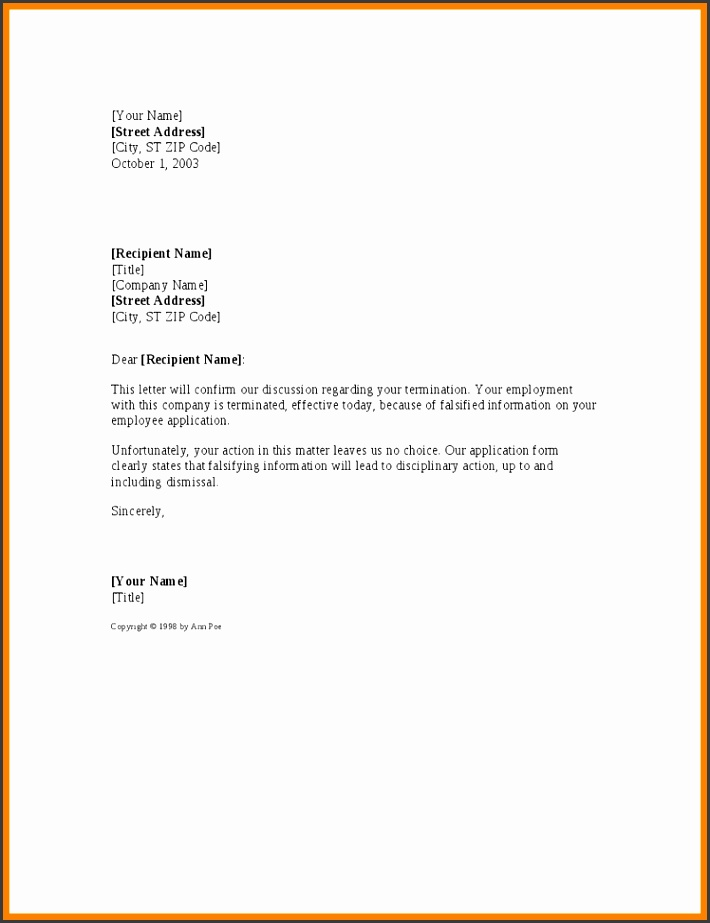 6 change of address letter template free