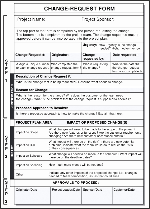 7 Change Request form Template - SampleTemplatess ...