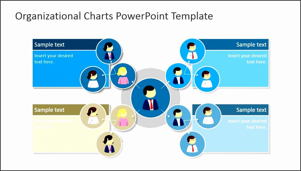 PowerPoint Template Organizational Chart PPT Circular Org Chart
