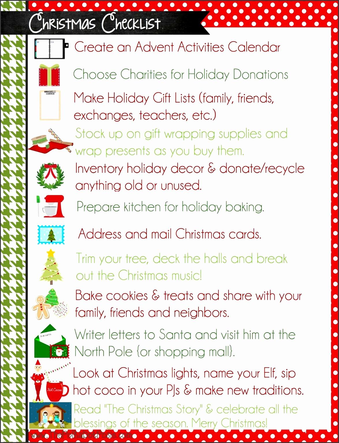 christmas list templates printable