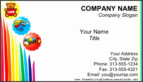 Daycare Business Cards Child Care Business Card Templates