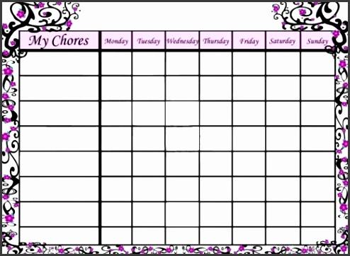 Printable chore chart templates facile snapshot charts
