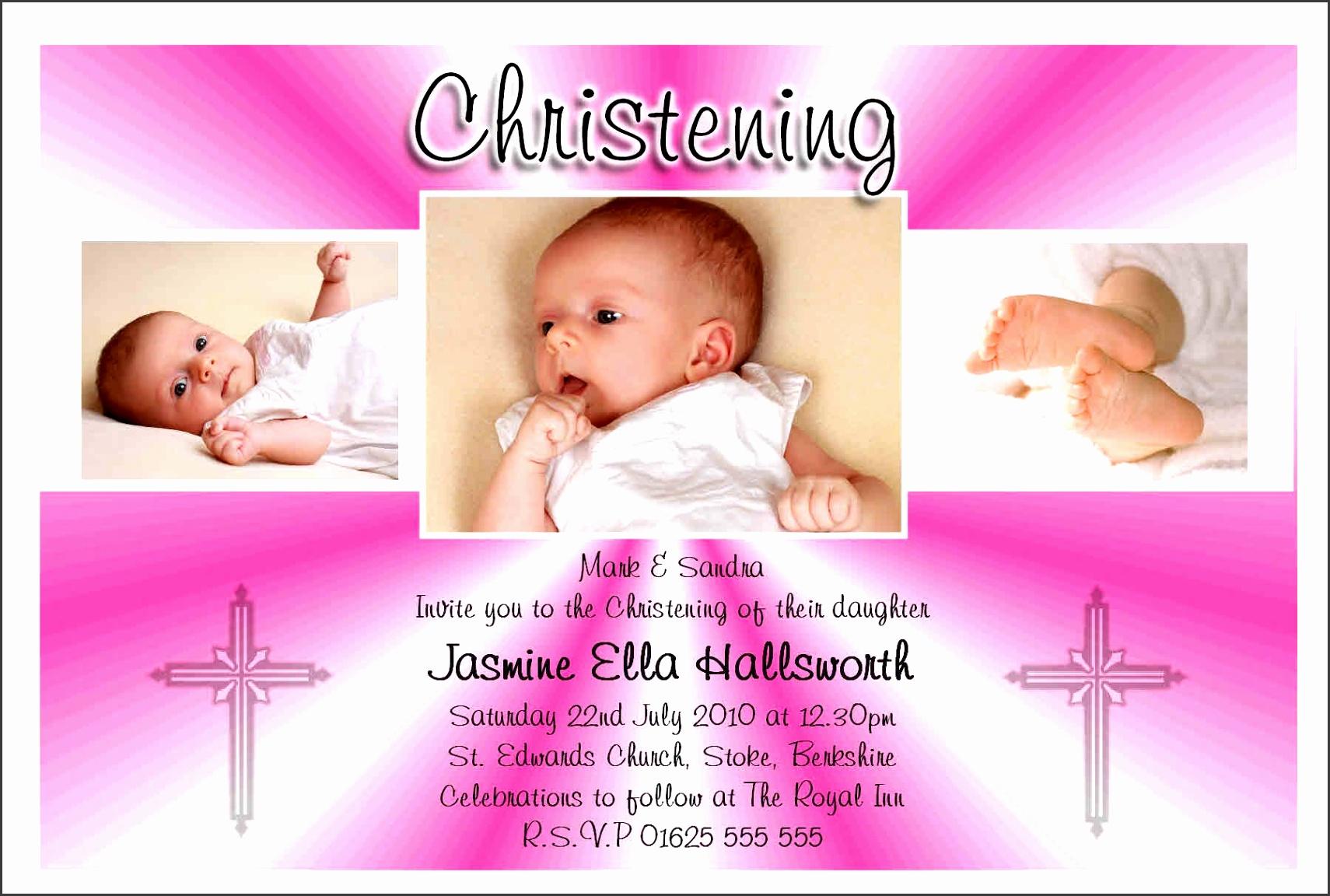 Christening Invitation Card