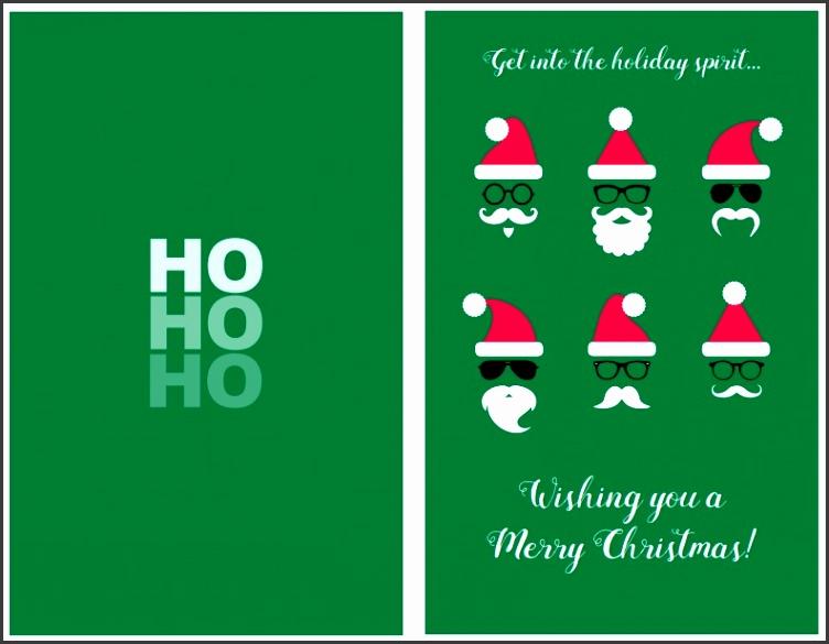 Modern Santa Face Christmas Card