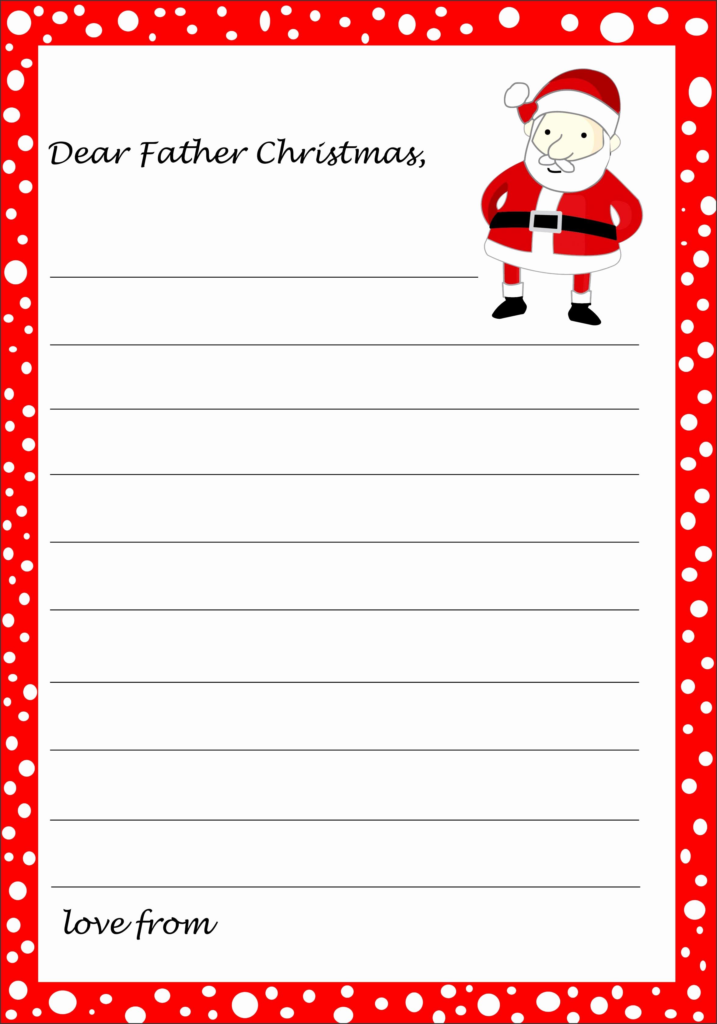 template letter to santa NVKKfIPb
