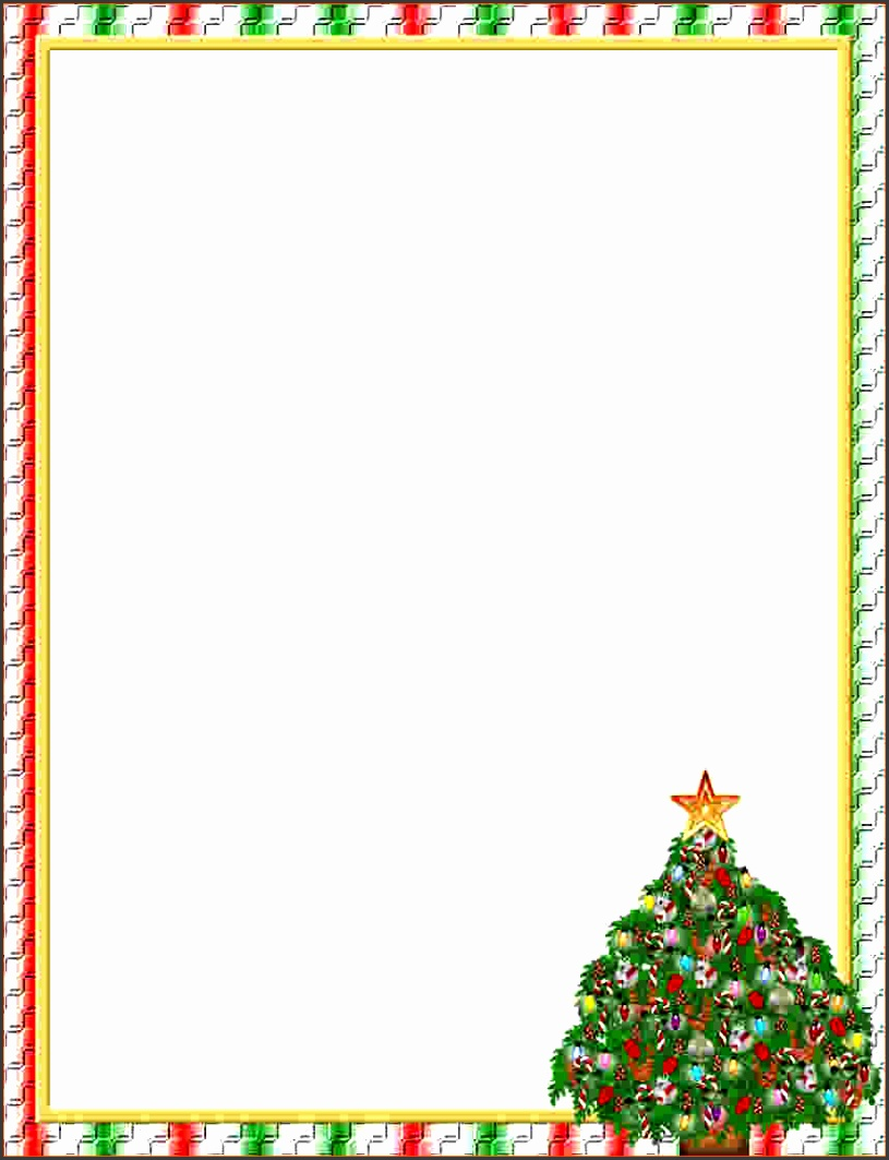 Christmas 1 FREE Stationery Template Downloads