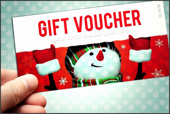 Christmas Style Gift Voucher Template