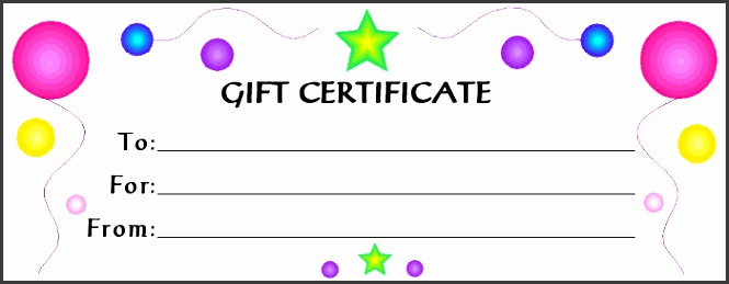 Inspirational Gift Voucher Template Sample For Kids a part of Gift Voucher Template Samples for Your