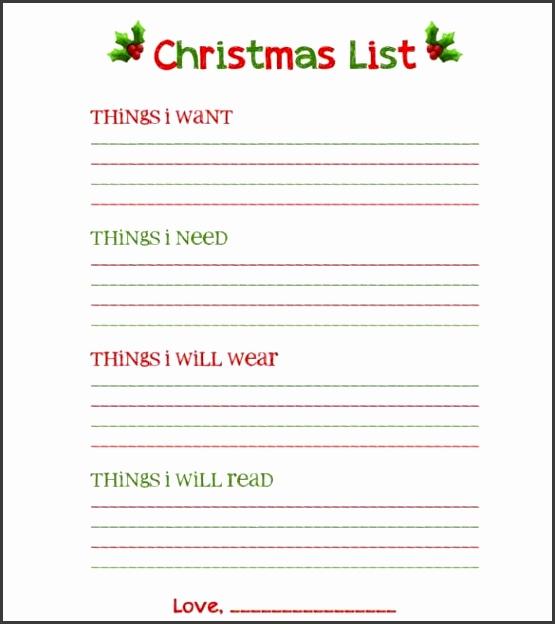 27 Christmas Gift List Templates Free Printable Word Pdf Jpeg with regard