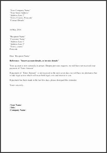 25 Debt collection letter template endowed Debt Collection Letter Template 7 Day Newfangled s with medium