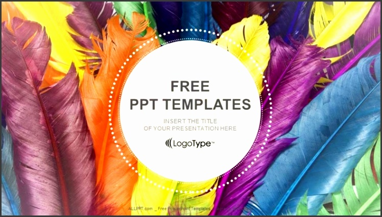 Feathers in colors Recreation PowerPoint Templates 1