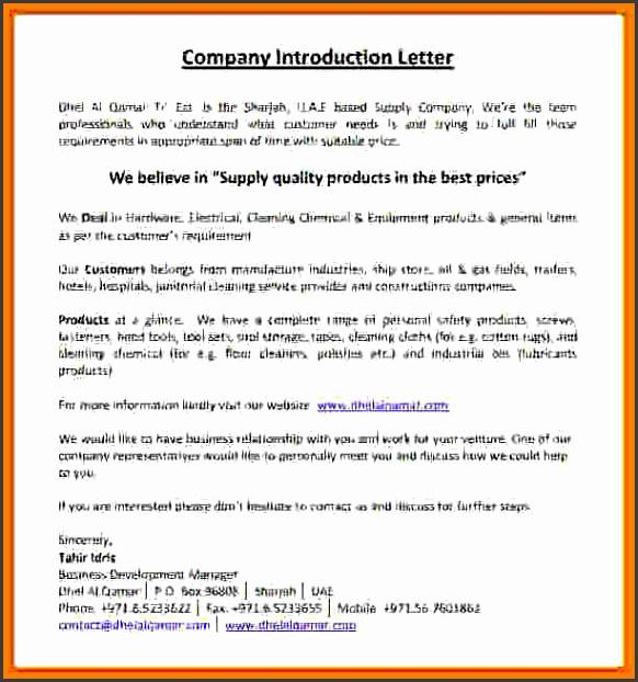 sample pany introductionnstruction pany introduction letter pany introduction letter sample pdfe