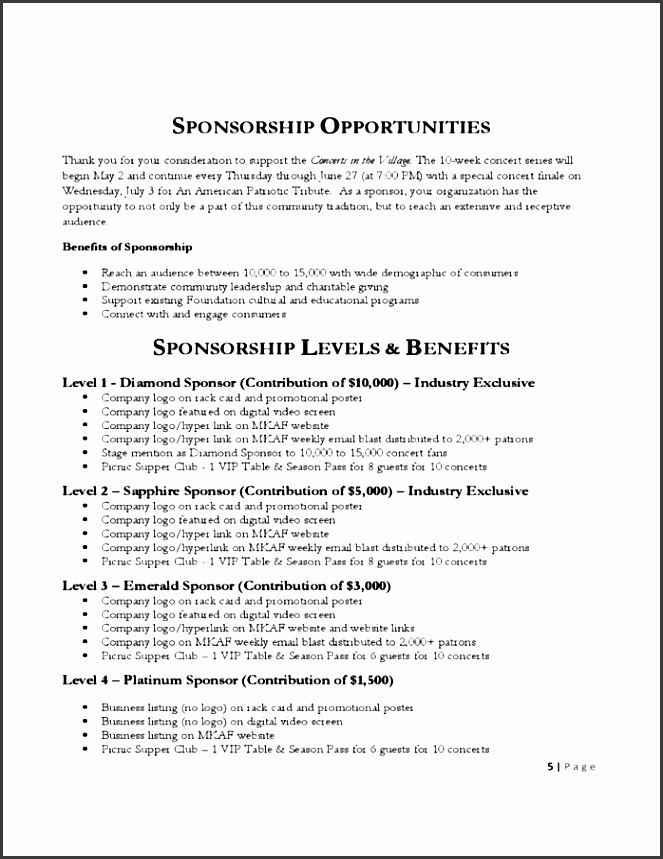 Sponsorship Proposal Example Dtlfv Luxury 6 Sponsorship Proposal Templates – Proposal Template