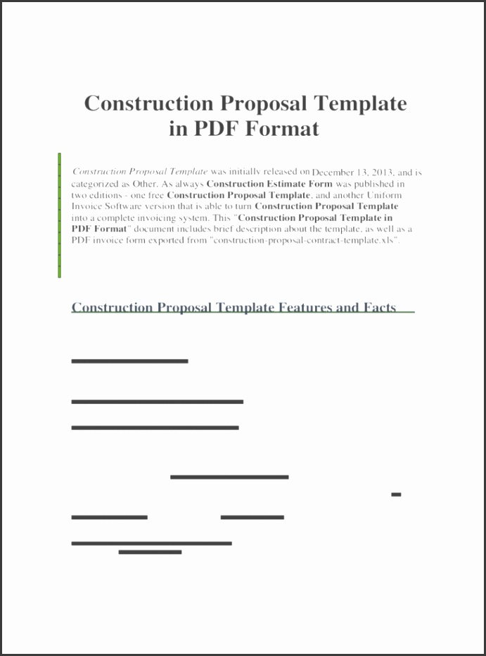 Construction Proposal Form Template In Pdf Format Forms Free Templates Word Excel Download Building Business Bid