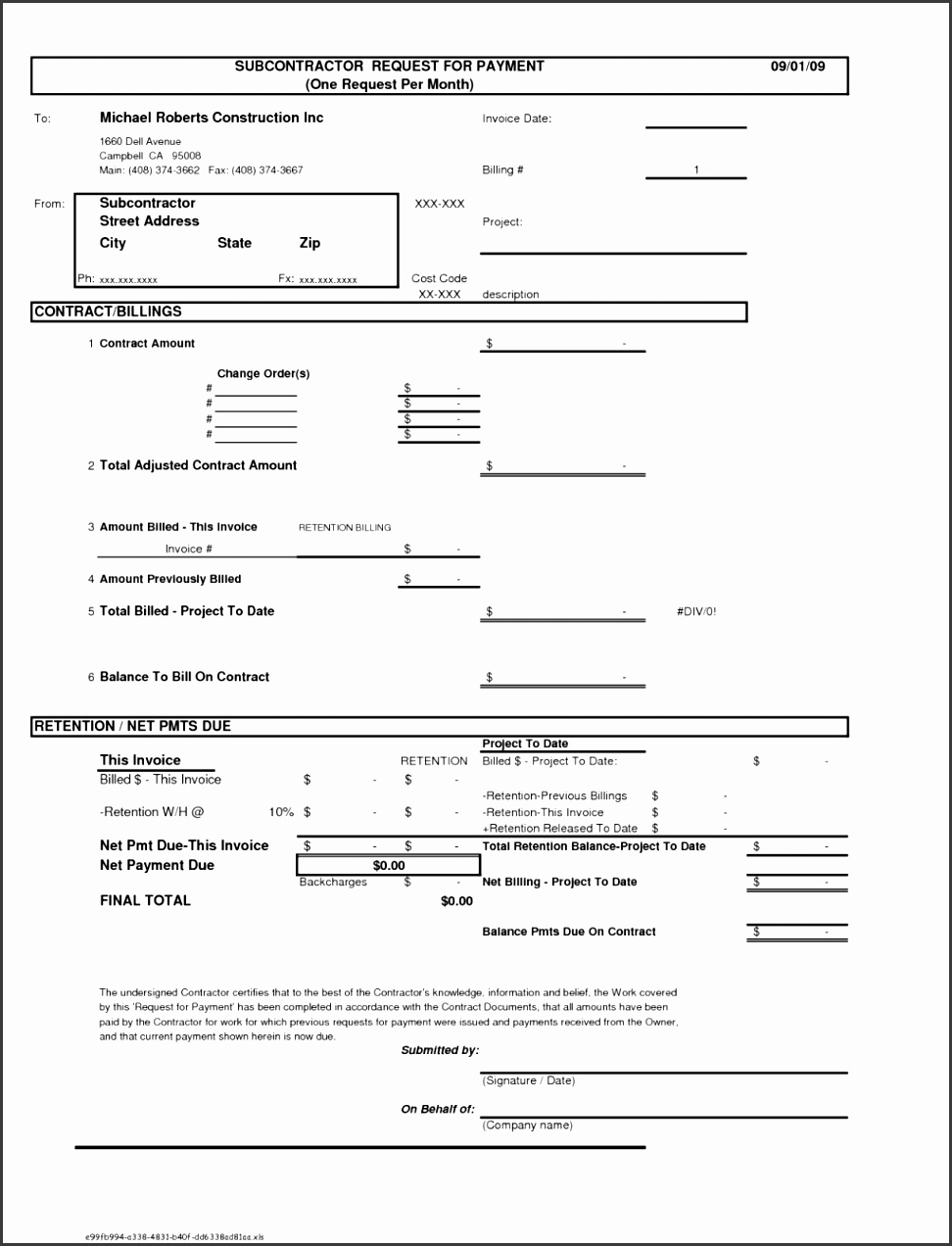excel consulting invoice template