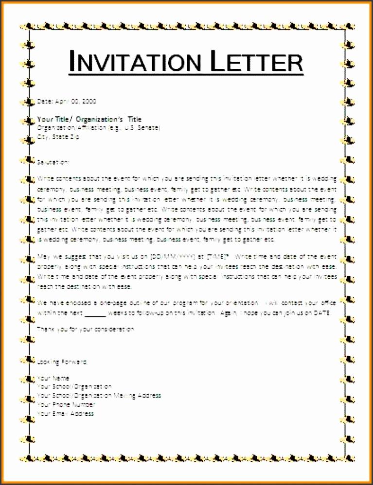 9 sample of invitation letter
