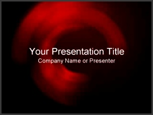 Cool Black Red Abstract PowerPoint Templates Image