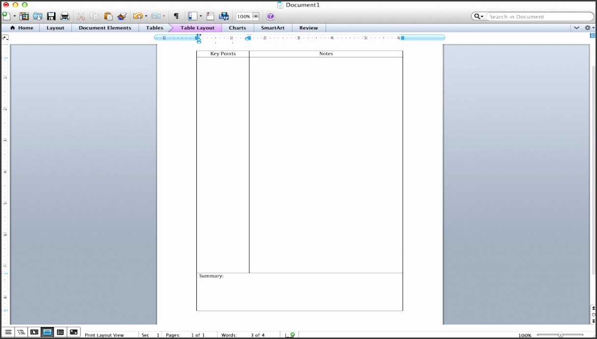 Cornell Notes Tutorial How to make a Cornell Notes template using Microsoft Word