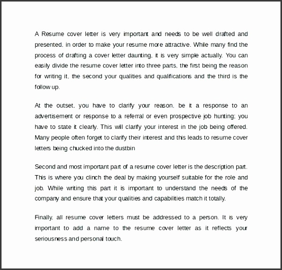 cover letter sample for resume example free online template