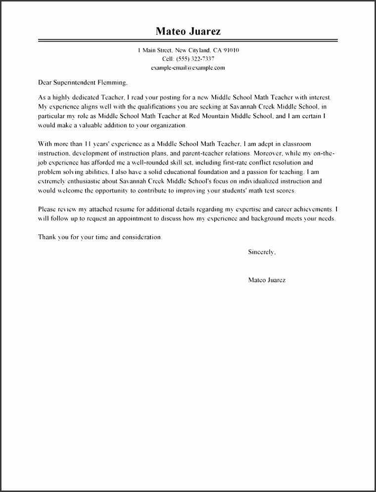 bold and modern sample cover letter for teacher best examples livecareer