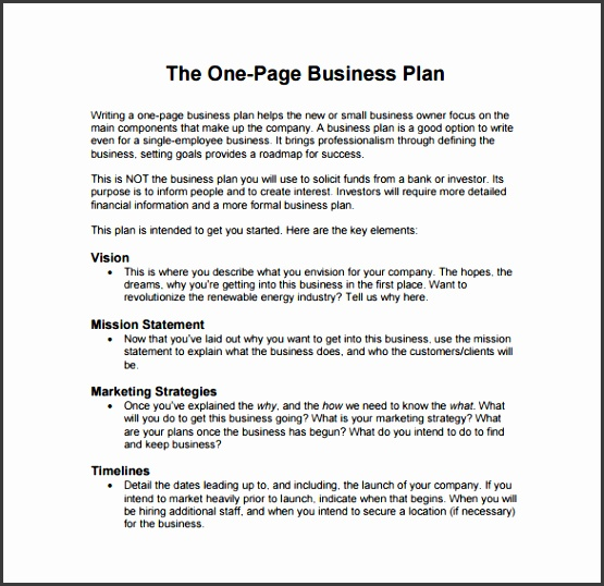 business plan sample template