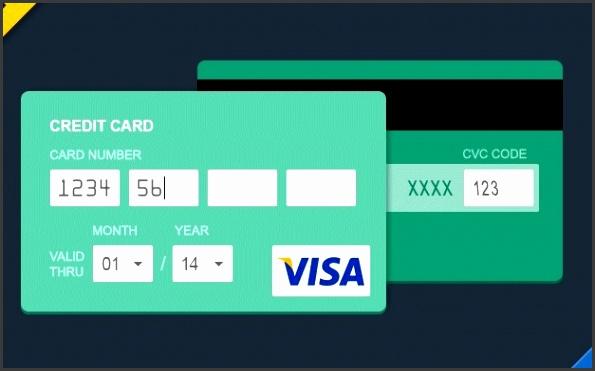 Flat Style Credit Card PSD