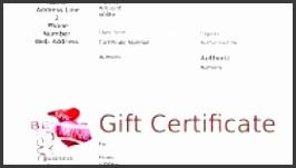Free Gift Certificate Template Microsoft Word Custom Gift