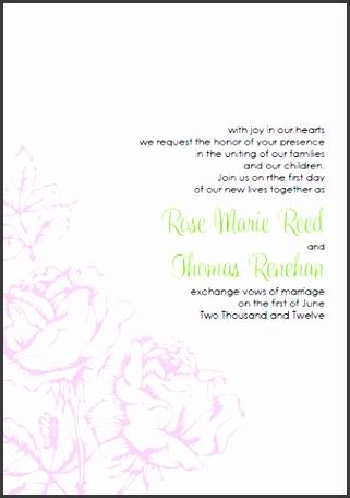 Printable Pink Rose Wedding Invitations Template Kit