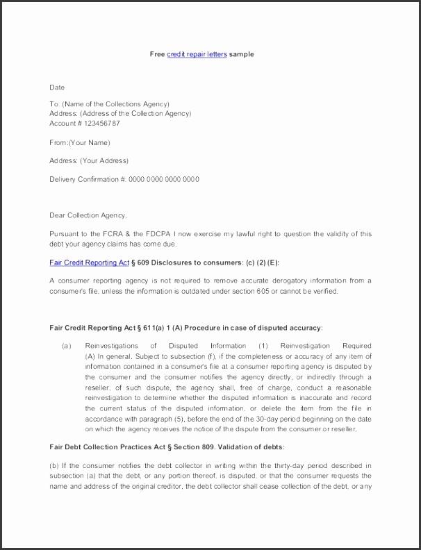 Section 609 Credit Dispute Letter Sample Credit Repair Secrets Exposed