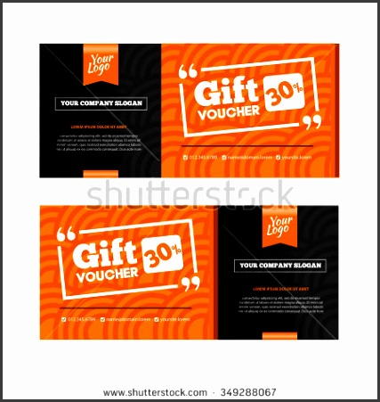 Two coupon vouchers design Gift voucher template with amount of discount and Contact Information