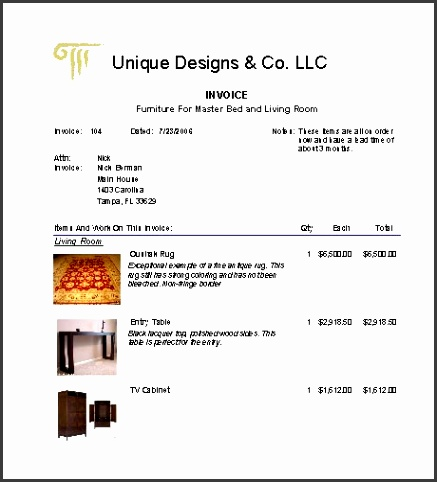 Interior Design Invoice Design Invoice Template Free Business Template