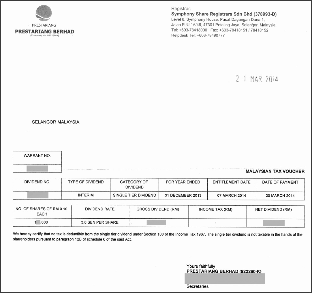 7 Dividend Voucher Template - SampleTemplatess - SampleTemplatess