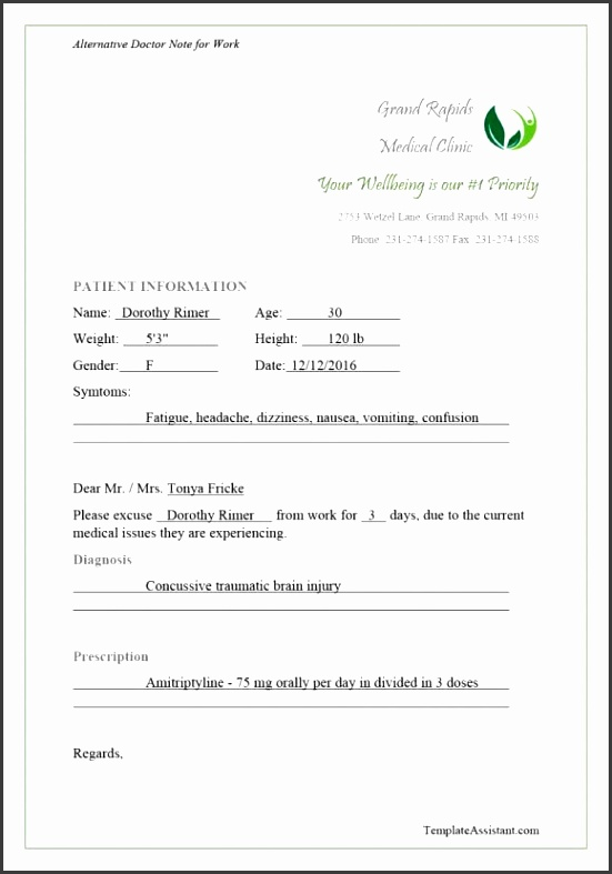 doctors note template 37