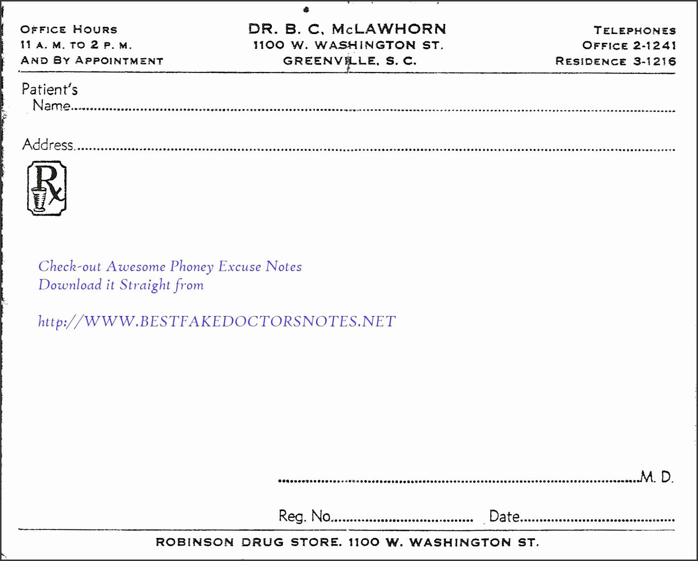 7 Doctors Note Template Download - SampleTemplatess - SampleTemplatess