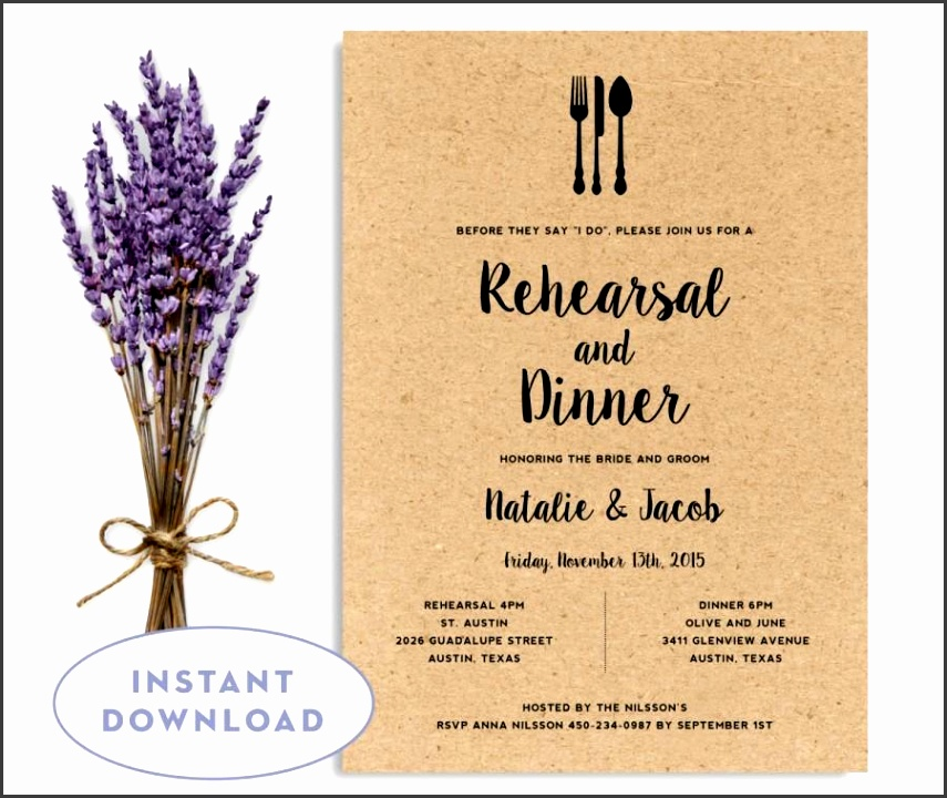 Rehearsal Dinner Invitation Template Wedding Rehearsal Editable Rehearsal Invitation INSTANT DOWNLOAD Word Template