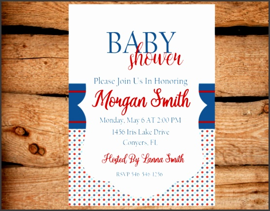 Boy Baby Shower Invitation Template Download
