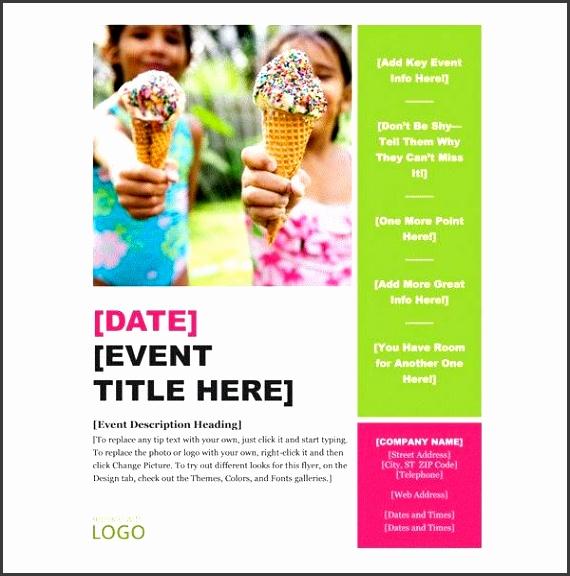 Report Template Event Flyer Brochure