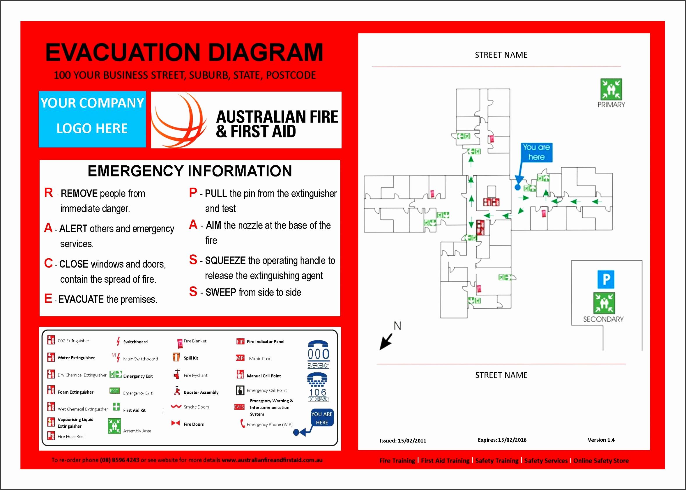 Evacuation Template Diy Emergency Action Plan Family Home home design Home Emergency Plan Template