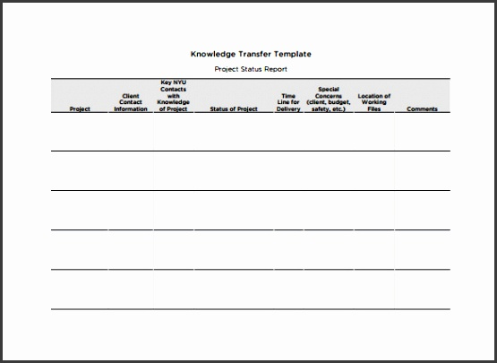 Knowledge Transition Plan Template PDF Free Download